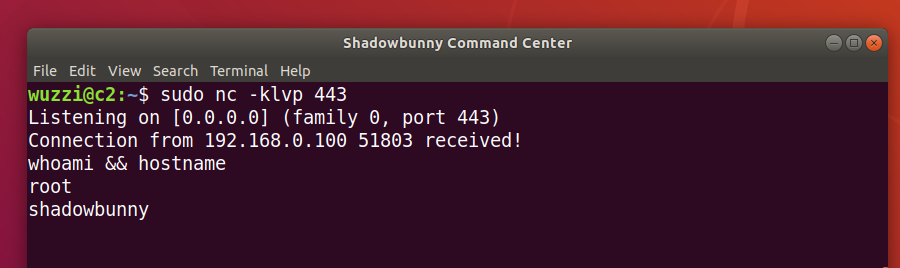 Shadowbunny Reverse Shell